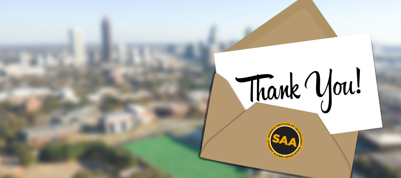 Write a letter to an alum during Homecoming and let them know you appreciate them.